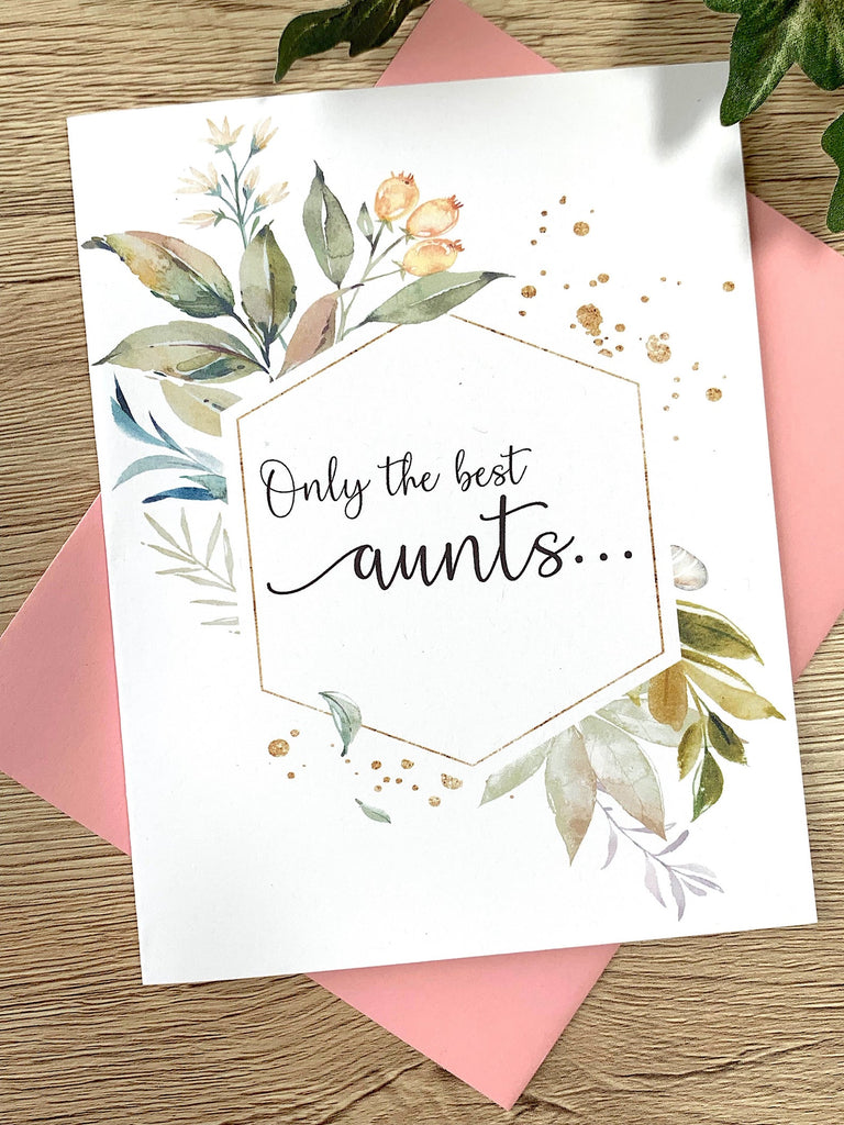 Aunt Pregnancy Announcement Card Foliage