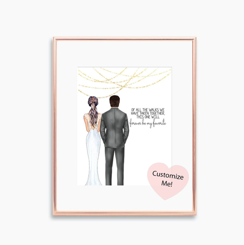 Keepsake wall art for your dad on your wedding day, Of all the walks we have taken together, this one will forever be my favorite