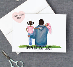 Happy Birthday Dad! Custom Birthday Card from Child and Baby
