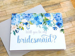 Hydrangea Bridesmaid Proposal Card