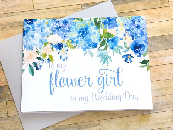 Hydrangea Flower Girl Thank You Card