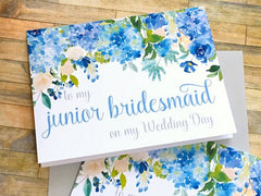 Hydrangeas Junior Bridesmaid Thank You Card