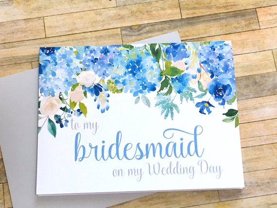 To My Bridesmaid on My Wedding Day