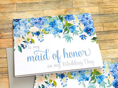 Maid of Honor Hydrangea Thank You Card