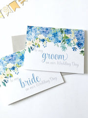 To My Groom on Our Wedding Day Card Hydrangeas