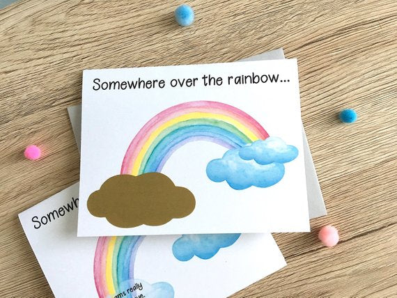 Personalized Rainbow Baby Scratch Off Card