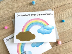 Somewhere Over the Rainbow Baby Scratch Off Card