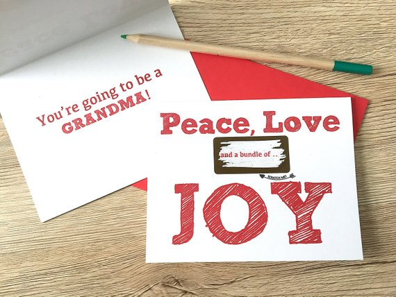 Peace, Love and a Bundle of Joy Scratch Off for Mom