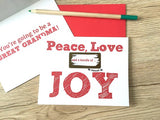 Peace, Love and a Bundle of Joy Scratch Off Card for Grandma