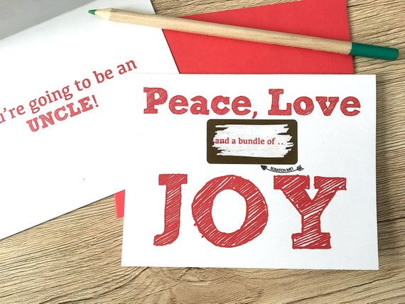 Peace, Love and a Bundle of Joy Scratch Off for Brother