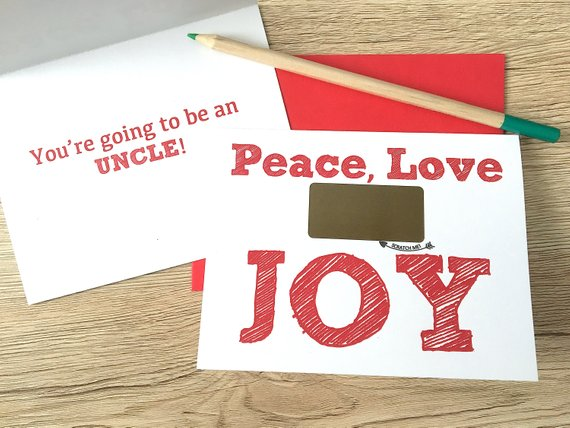 JOY Pregnancy Scratch Off Card for Brother