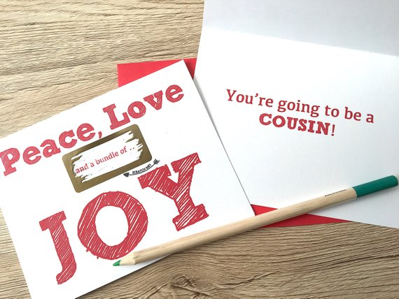 Peace, Love and a Bundle of Joy Scratch Off for Niece/Nephew