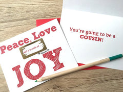 Peace, Love and a Bundle of Joy Scratch Off Card for Niece or Nephew
