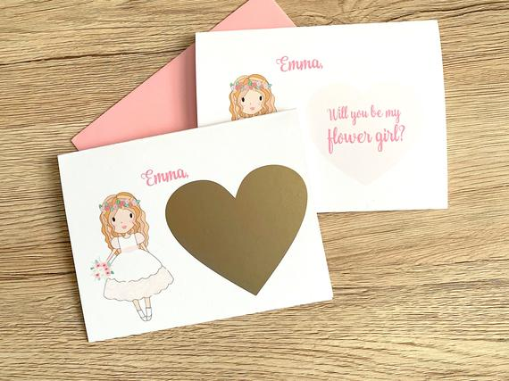 Personalized Flower Girl Scratch Off Proposal