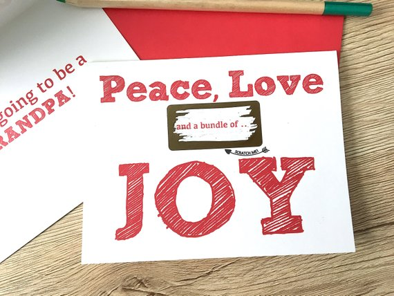 Peace, Love and a Bundle of Joy Scratch Off for Dad