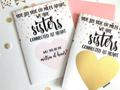Long Distance Matron Of Honor Scratch Off Proposal for Sister