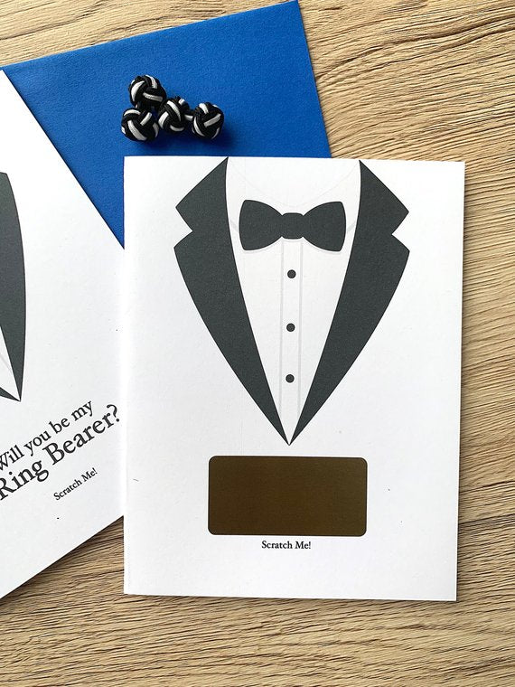 Ring Bearer Tuxdeo Scratch Off Proposal