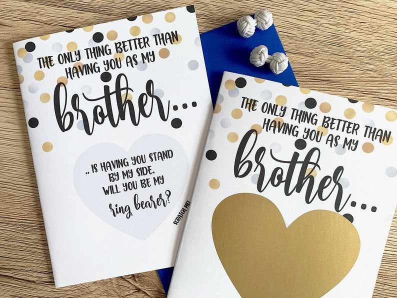 Brother Ring Bearer Scratch Off Proposal Card