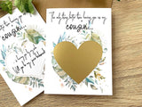 Cousin Junior Bridesmaid Scratch Off Proposal Rustic Greenery