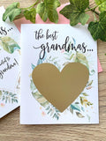Greenery Pregnancy Scratch Off Card for Great Grandma