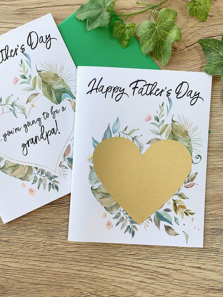 Happy Father's Day Scratch Off Pregnancy Reveal for Dad