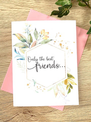 Best Friends Baby Announcement Card Foliage