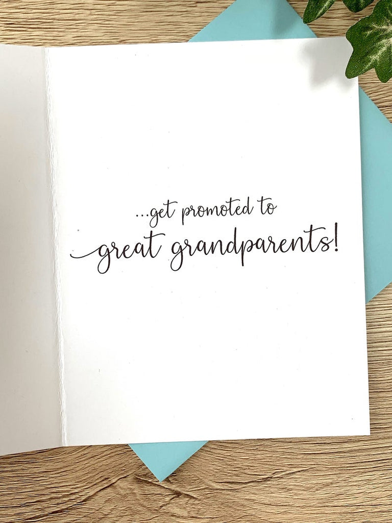 Best Grandparents Get Promoted to Great Grandparents Card