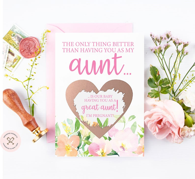 For aunts and great-aunts-to-be