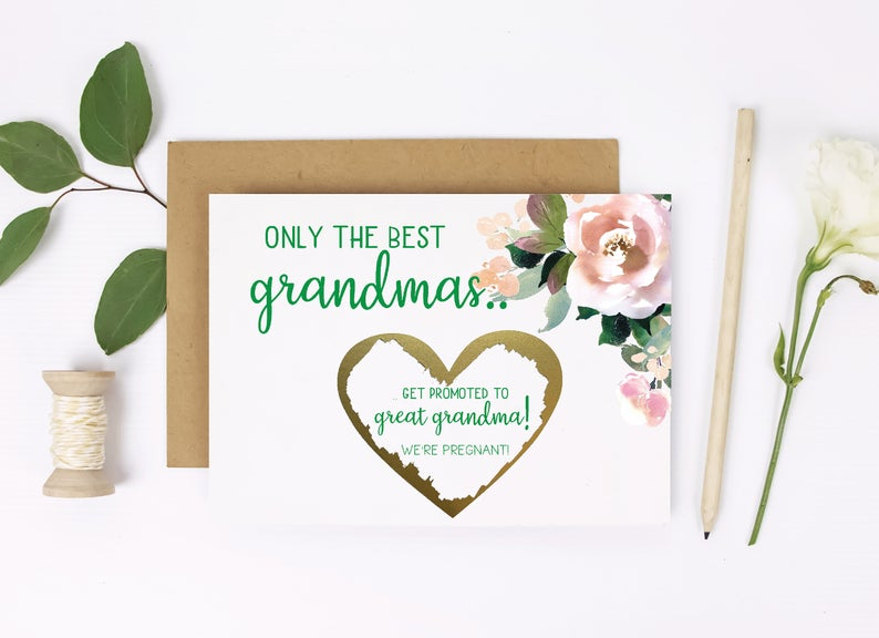 Grandma pregnancy announcement reveal scratch off