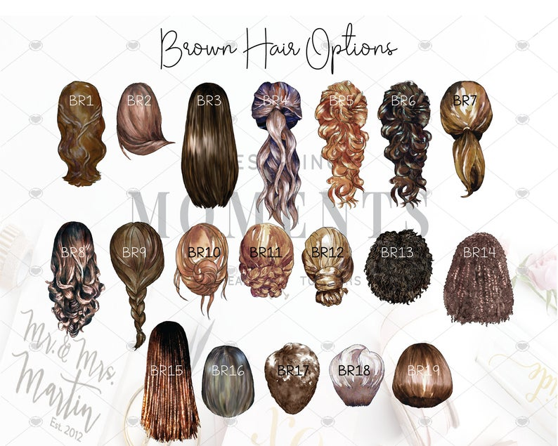 brown hair options for custom portraits