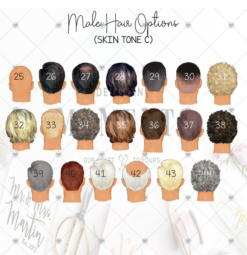 custom male hair and skin tone
