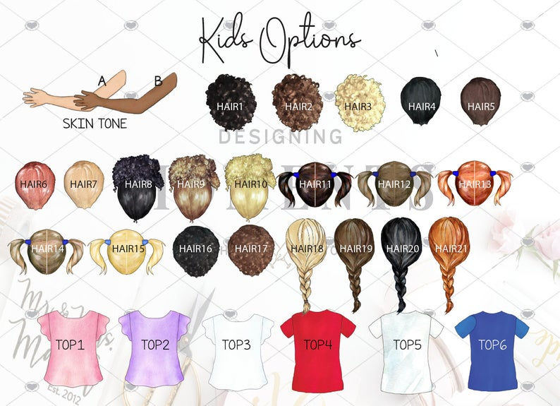 Kid options for boys and girls