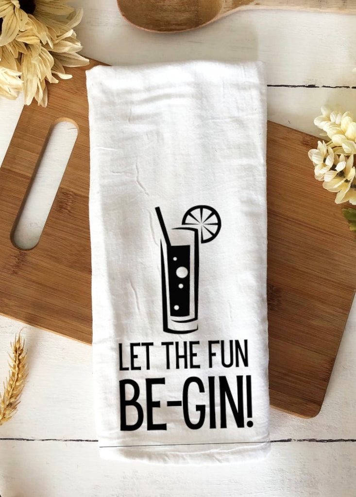 For gin enthusiasts - Let the fun be-gin! Bar towel