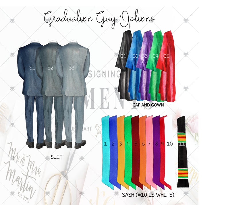graduation wall art guy grad options