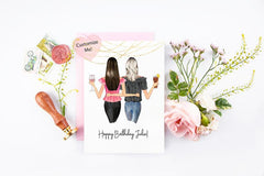 Personalized Best Friend Birthday Card