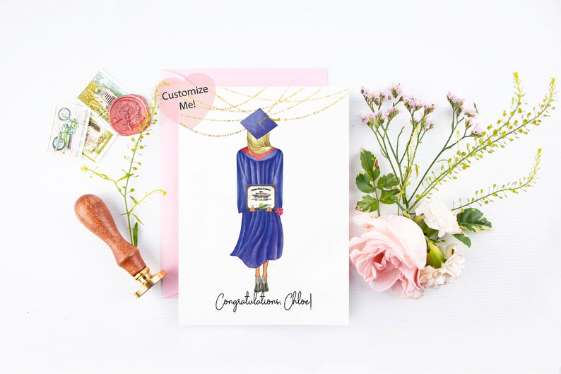Custom Graduation Card for Her