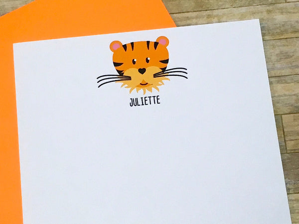 Personalized Tiger Note Cards