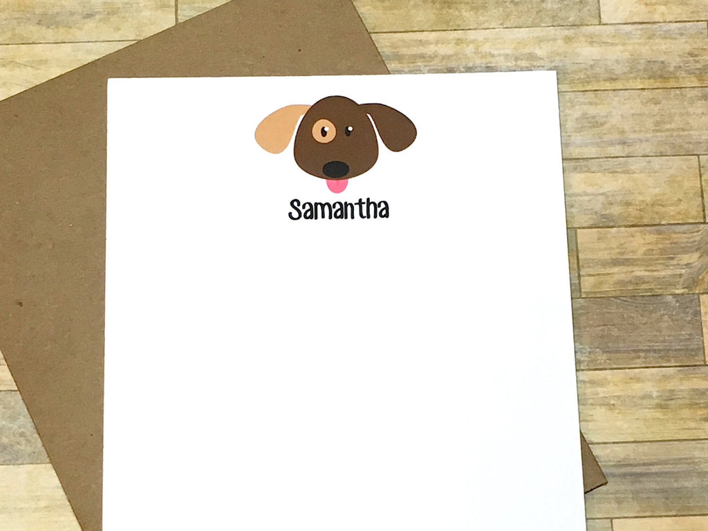Puppy Dog Personalized Note Cards