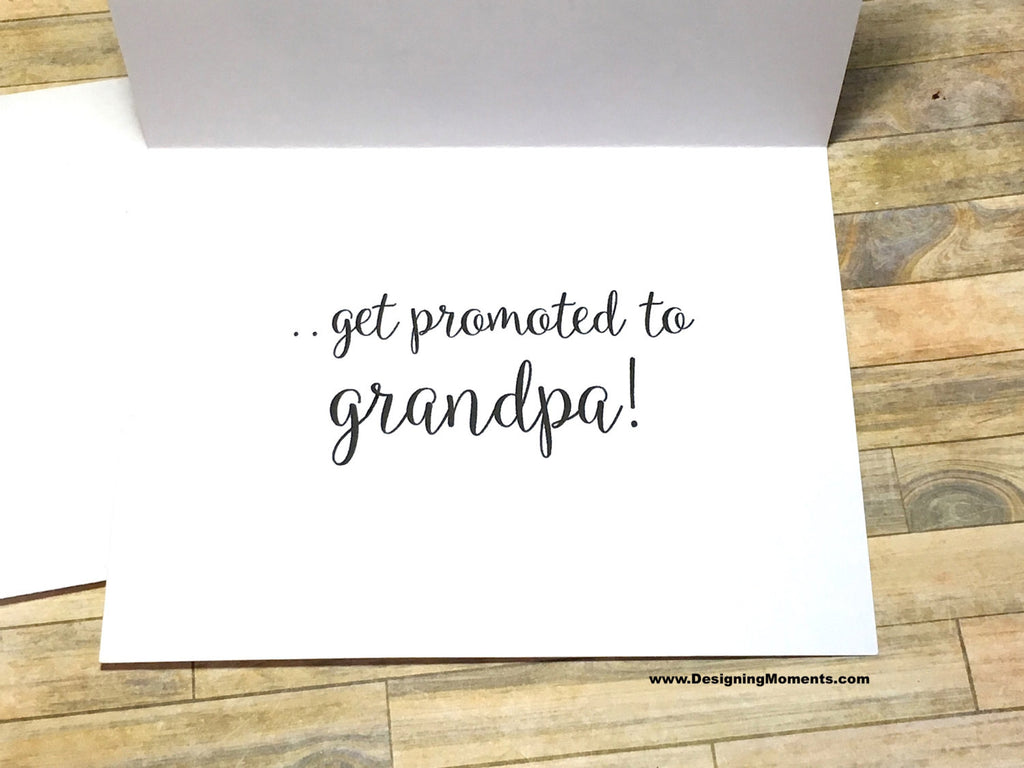 Succulent The Best Dads Get Promoted to Grandpa Card