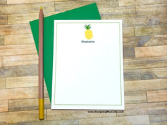 Pineapple Personalized Flat Cards