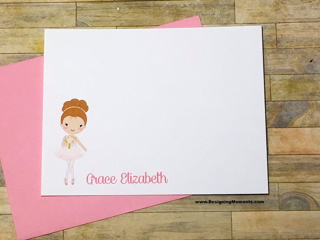Ballerina Girl Personalized Flat Cards