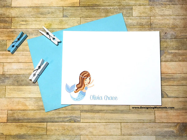 Little Mermaid Personalized Flat Cards
