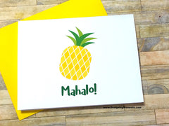 Mahalo! Pineapple Note Cards