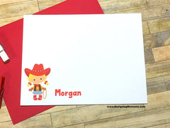 Cowgirl Personalized Flat Cards