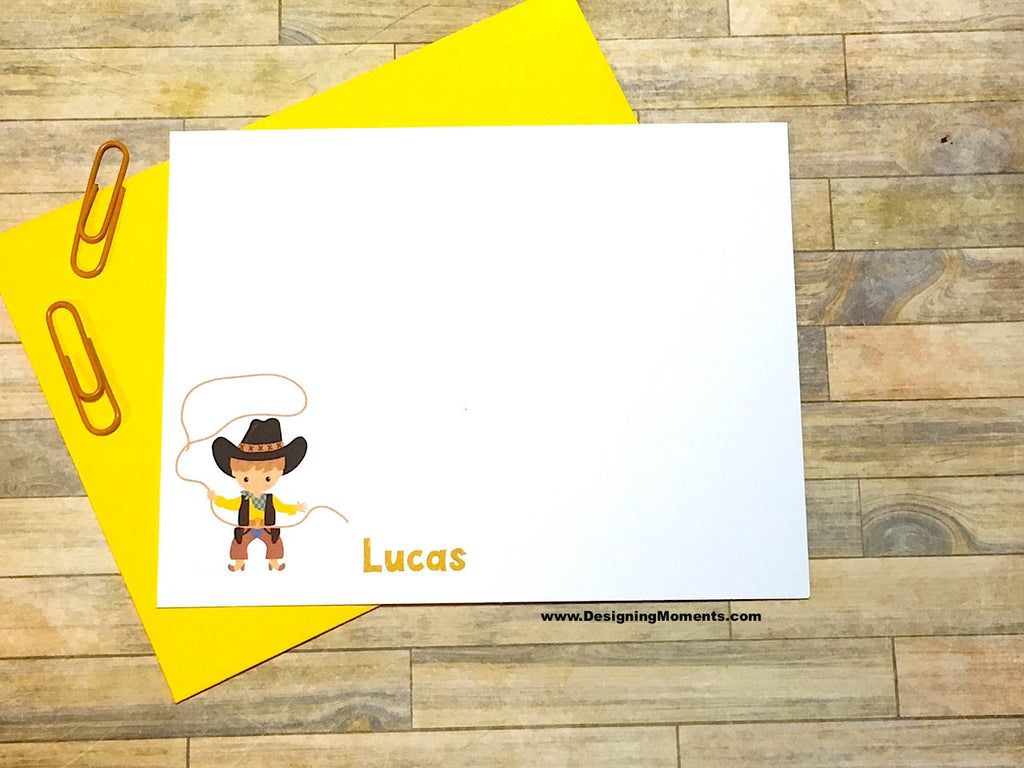 Cowboy Personalized Flat Cards