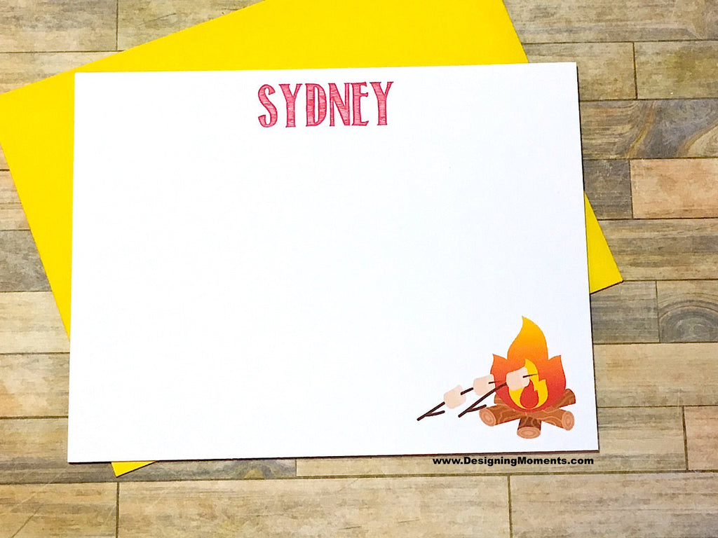 Campfire Personalized Note Cards