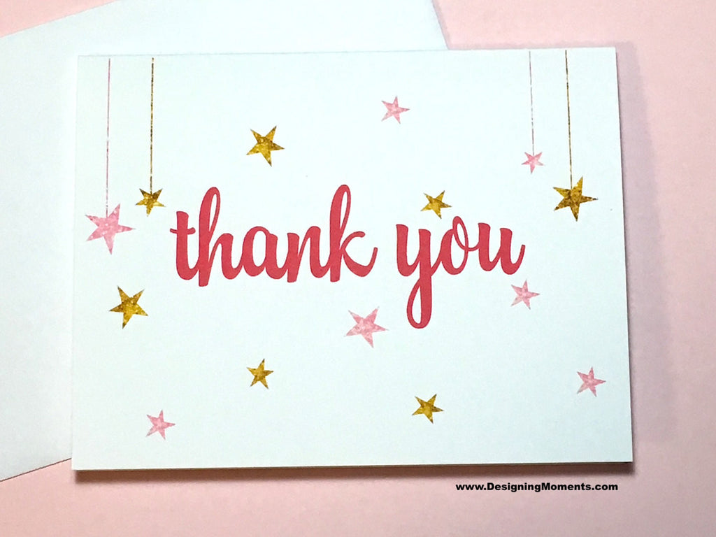Twinkle Twinkle Little Star Thank You Cards
