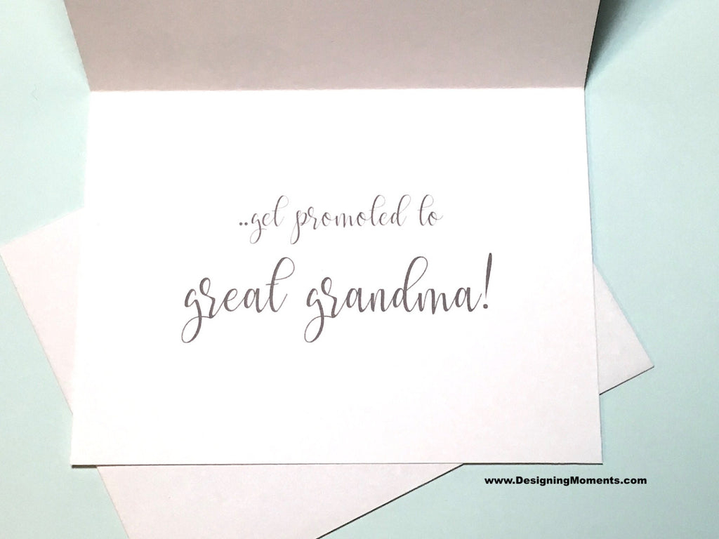 Navy the Best Grandmas Get Promoted to Great Grandma Card