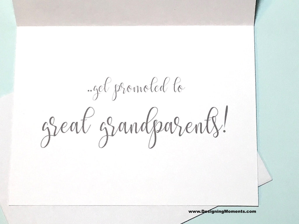 Grandparents Baby Announcement Card Navy and White