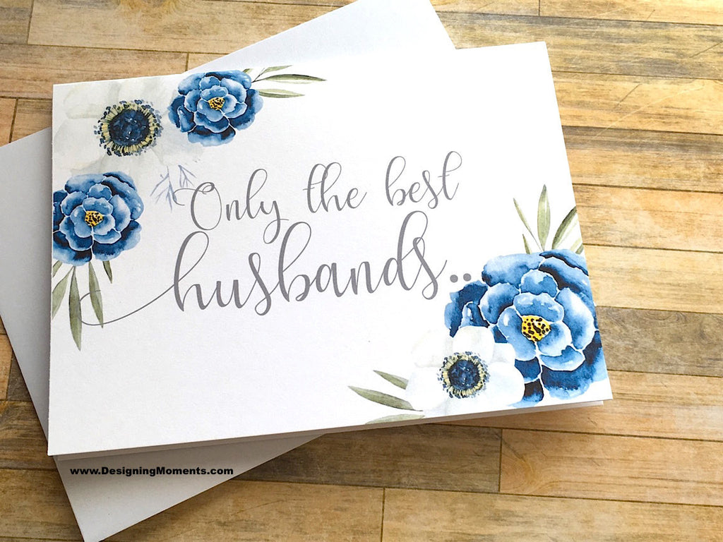 Navy Pregnancy Announcement Card for Husband